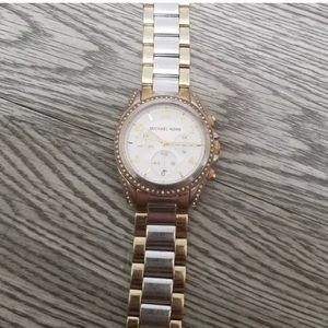 Michael Kors Stainless Steel Silver Gold Watch